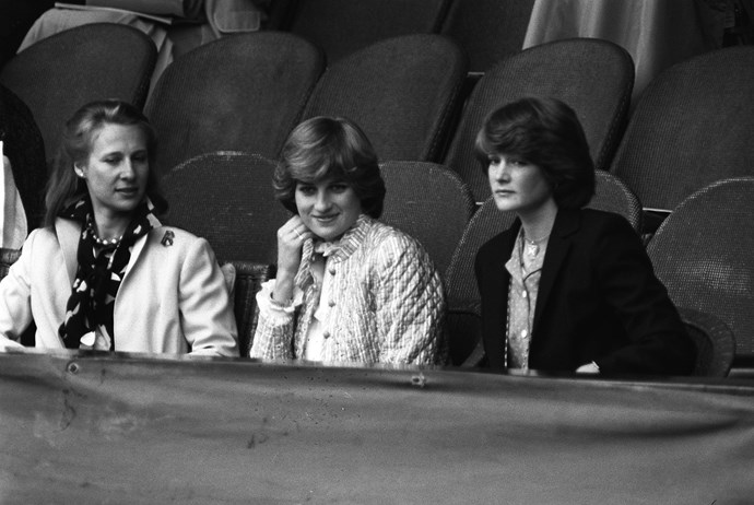 Princess Diana at Wimbledon in 1981.