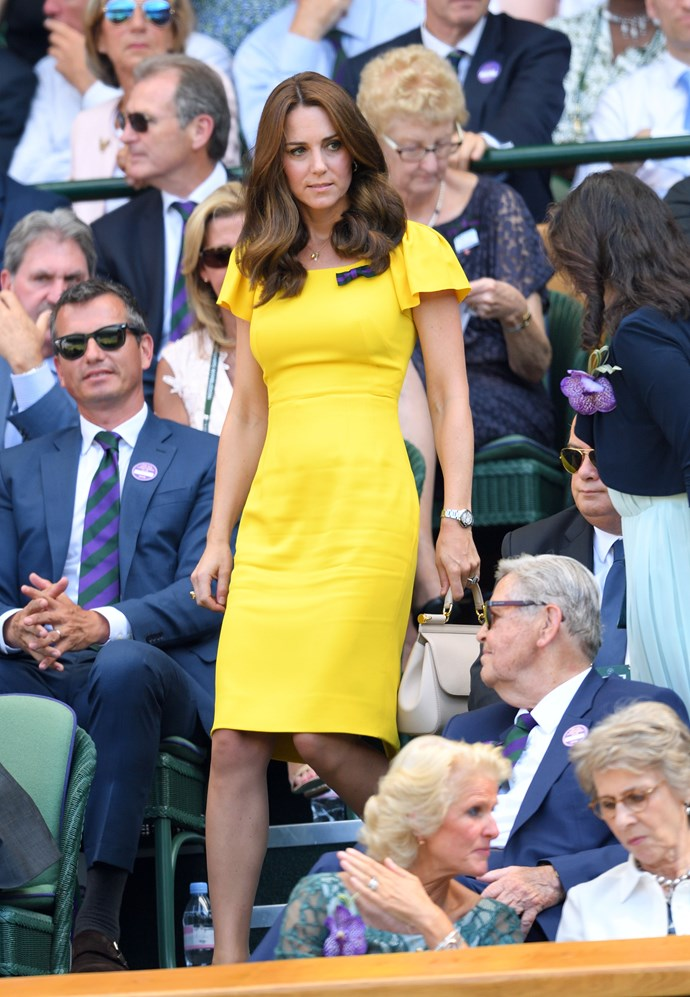 Kate Middleton at Wimbledon in 2018.