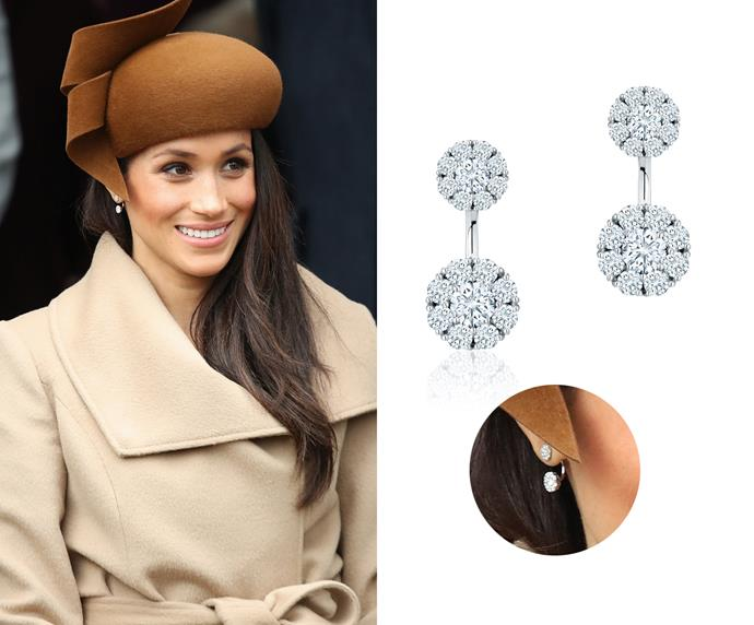 """Jacket earrings, $6,147 at [Birks](https://www.maisonbirks.com/en/birks-snowflake-large-round-jacket-earrings target=""""_blank"""" rel=""""nofollow"""")."""