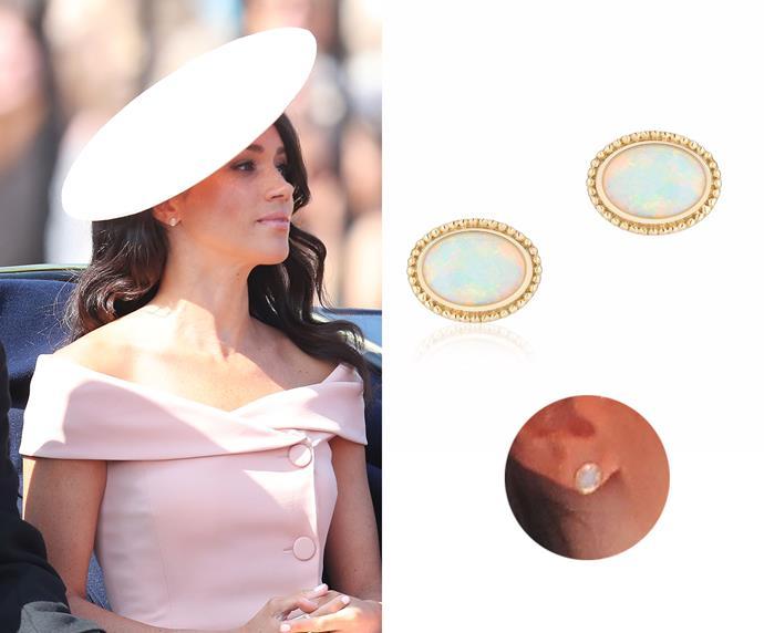 """Opal earrings, $1,017 at [Birks](https://www.maisonbirks.com/en/les-plaisirs-de-birks-yellow-gold-and-opal-earrings target=""""_blank"""" rel=""""nofollow"""")."""