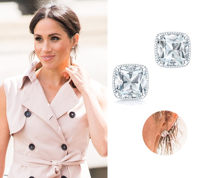 "White quartz studs, $276 at [Birks](https://www.maisonbirks.com/en/birks-bee-chic-white-quartz-silver-stud-earrings|target=""_blank""|rel=""nofollow"")."