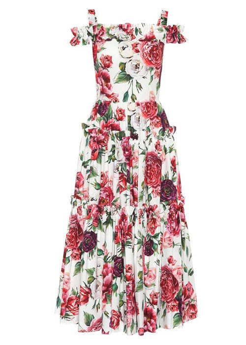 "Floral-printed cotton dress, $2,750, Dolce and Gabbana at [MyTheresa](https://www.mytheresa.com/en-au/dolce-gabbana-abito-a-stampa-floreale-in-cotone-1014244.html?catref=category|target=""_blank"")"
