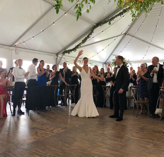 The bride and groom have their first dance.  (PHOTO: INSTAGRAM)