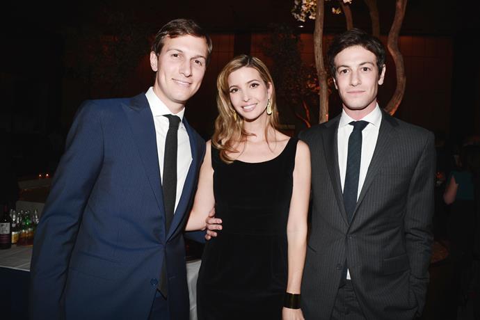 From left: Jared Kushner, Ivanka Trump and Joshua Kushner.