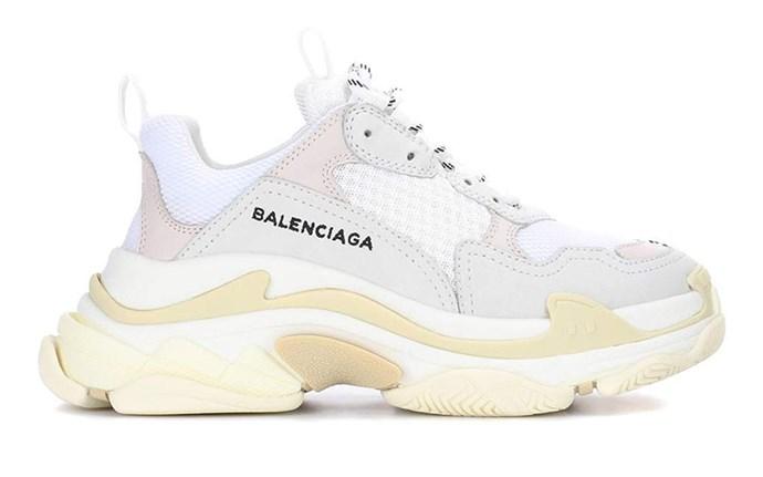 "Balenciaga Triple S, $1,167 at [MyTheresa](https://www.mytheresa.com/en-au/balenciaga-triple-s-sneakers-1003783.html?catref=category|target=""_blank""|rel=""nofollow"")"