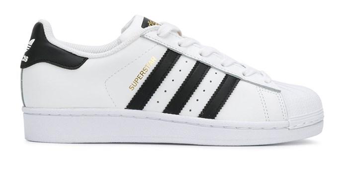 "Adidas Superstars, $123 at [Farfetch](https://www.farfetch.com/au/shopping/men/adidas-superstar-sneakers-item-12756077.aspx|target=""_blank""|rel=""nofollow"")"
