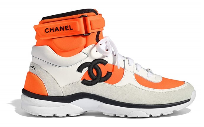 """Chanel Contrast Sneakers (sold out), shop similar, POA at [Chanel](https://www.chanel.com/en_AU/fashion/p/sho/g33862y51557/g33862y51557k0986/trainers-suede-calfskin-navy-blue-red.html