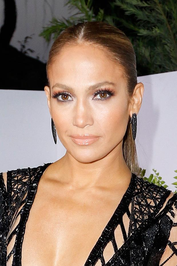 JLo proves that slicked back hair is here to stay at an event in 2017.
