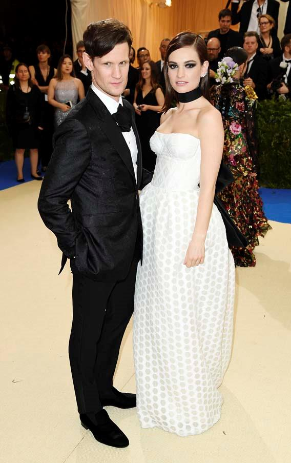 Matt Smith and Lily James at the 2017 Met Gala