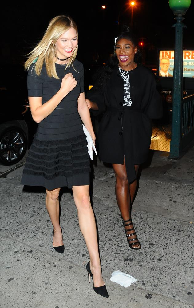***Serena Williams***<br><br> Considering she was one of the friends she FaceTimed immediately after her engagement, we think it's safe to assume Karlie and Serena are very close friends.