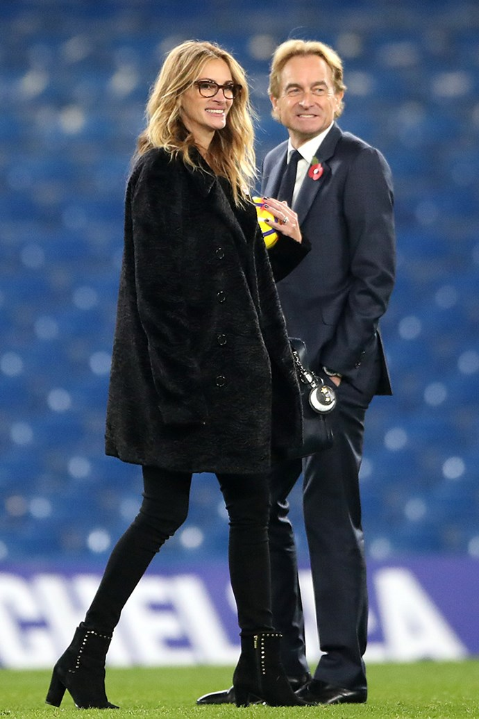 On the pitch after the Premier League match at Stamford Bridge on 5th November, 2017 in London.