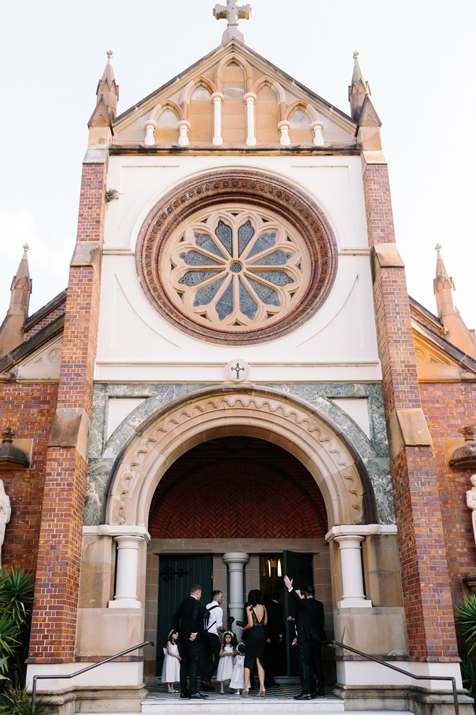 **On the location: ** <br><br> The ceremony took place at St Francis of Assisi in Paddington. It was a combined Catholic and Greek Orthodox Ceremony which was a little confusing yet perfect for us. The reception was at the Queen Victoria Building Tea Rooms.