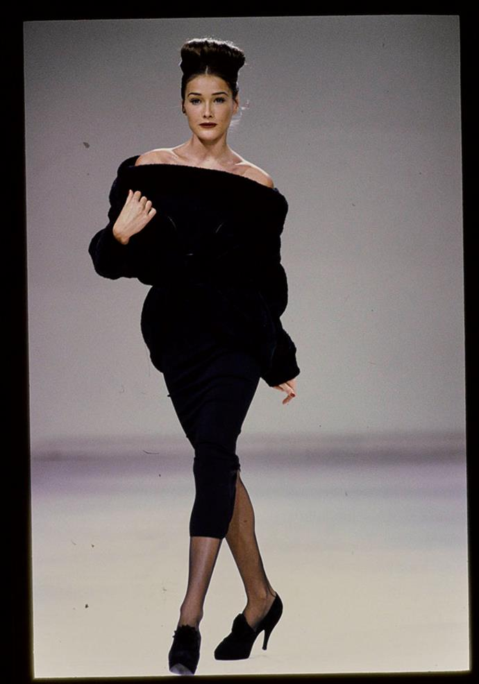 Carla Bruni in Alaïa, 1990.