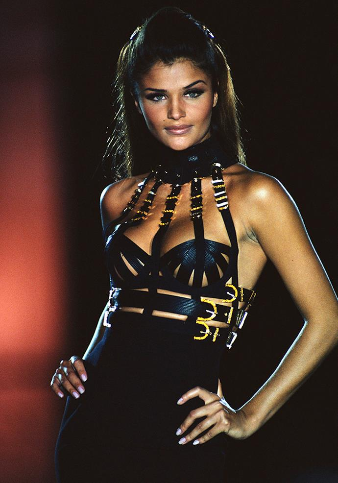 Helena Christensen in Versace, 1992.