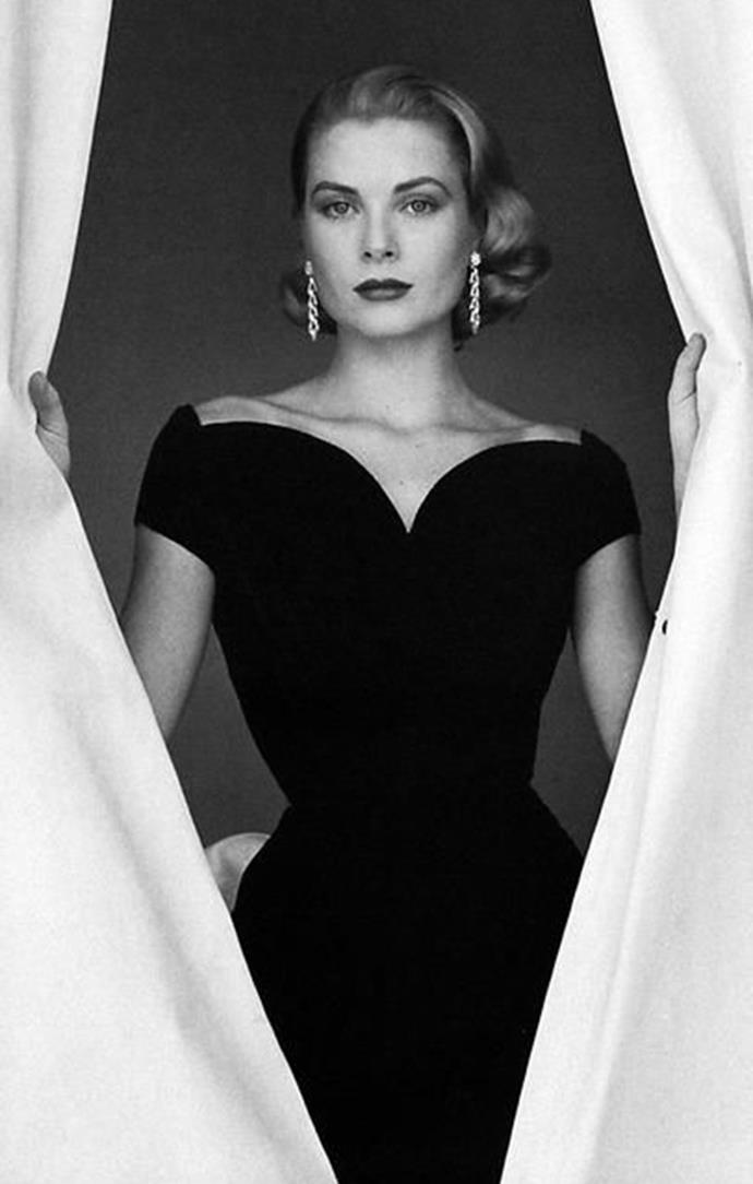 Princess Grace of Monaco (formerly Grace Kelly), 1955.