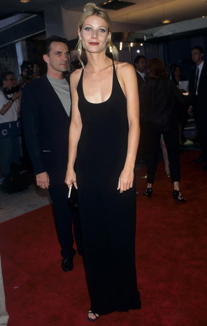 Gwyneth Paltrow at the premiere of *Emma*, 1996.