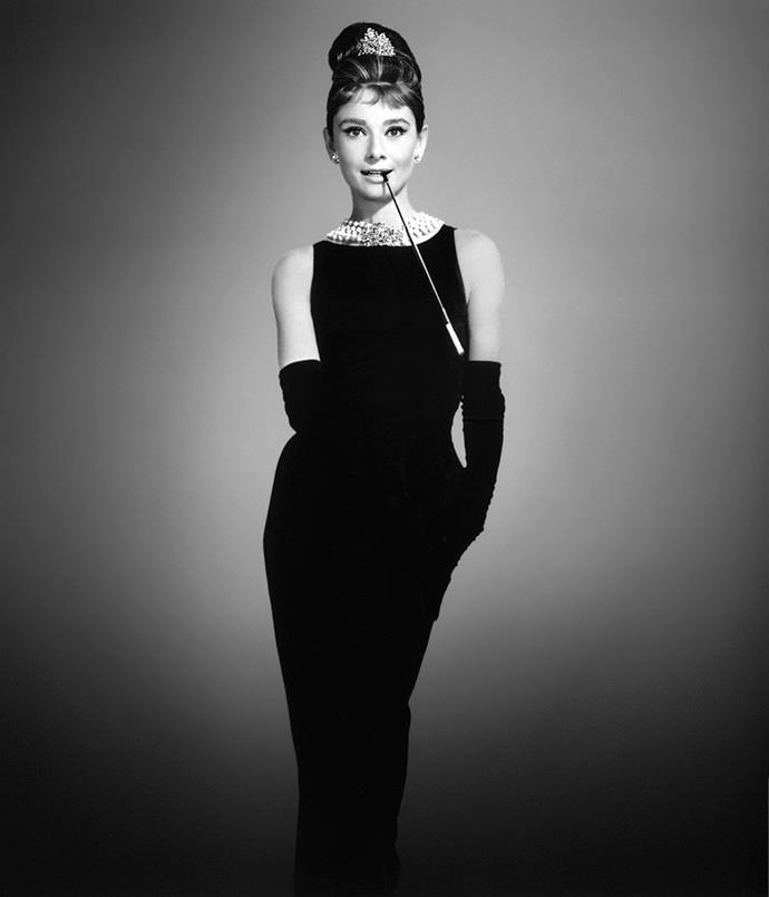 Audrey Hepburn in Givenchy in *Breakfast At Tiffany's*, 1961.