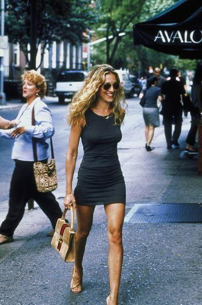 Carrie Bradshaw (Sarah Jessica Parker) in *Sex and the City*, 2001.