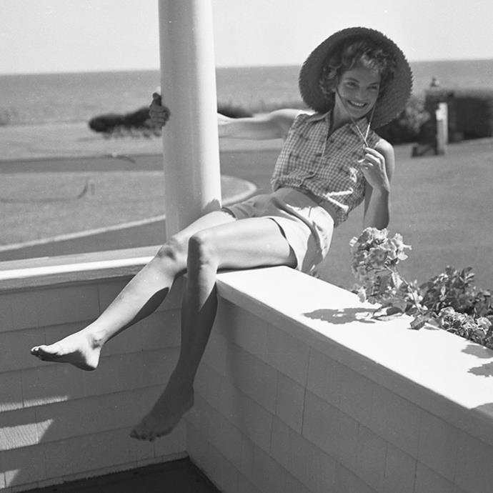 On vacation at the Kennedy compound in Hyannis Port, Massachusetts, 1953