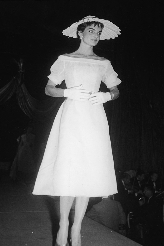 At the annual 'April in Paris' Ball, 1954