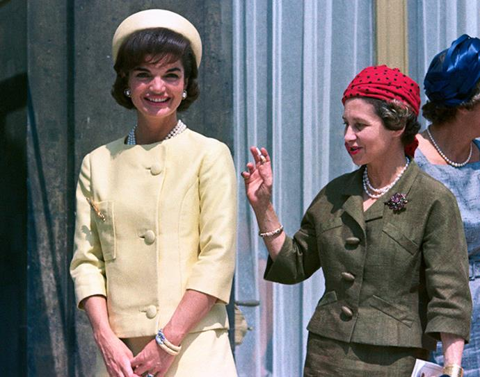 During a state visit to France at the Palais de l'Elysee, 1961