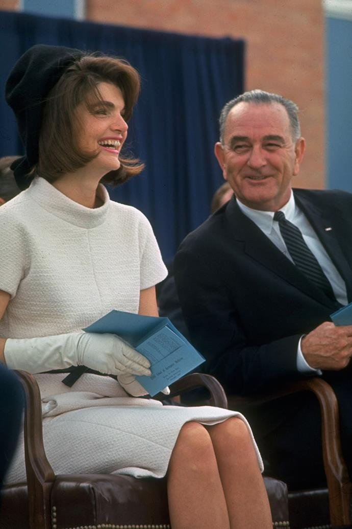 At the dedication of the Aerospace Medical Health Center at Brooks Air Force Base, 1963