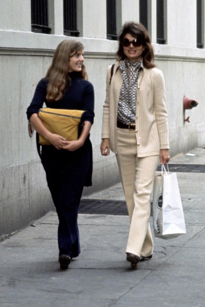 With Caroline Kennedy on 85th Street, New York City, 1971