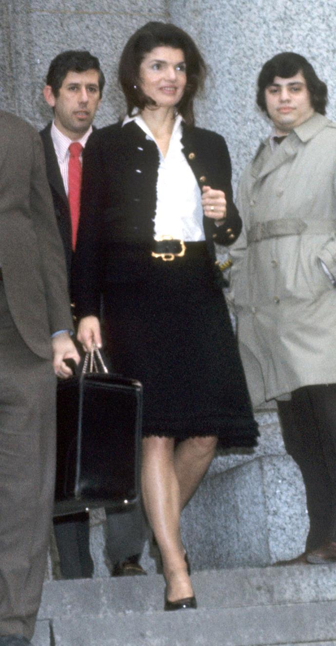Leaving the Federal Courthouse in New York City, 1972