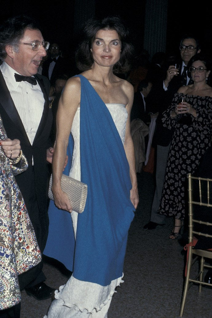 Attending 'The Treasures of Early Irish Art' Exhibit Opening at Metropolitan Museum of Art in Beverly Hills, 1977