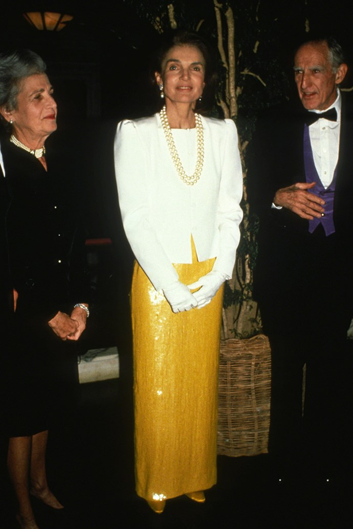 Attending a formal evening event in New York City, 1989