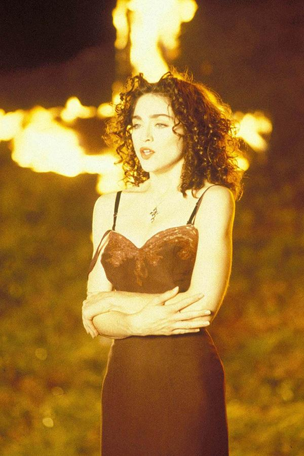 Madonna in the music video for 'Like A Prayer', 1989.