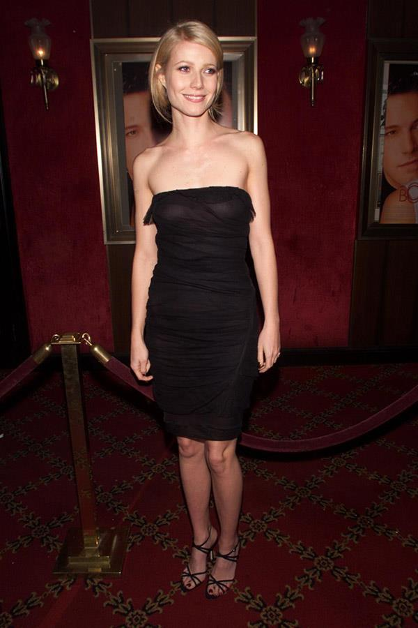 Gwyneth Paltrow in a sheer LBD, 2000.