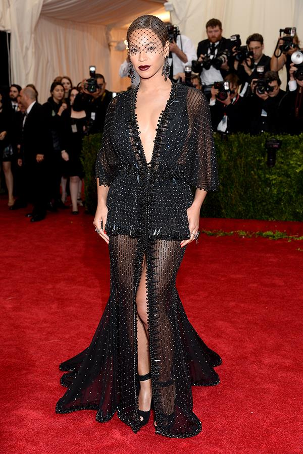 Beyoncé in Givenchy by Riccardo Tisci at the 2014 Met Gala.