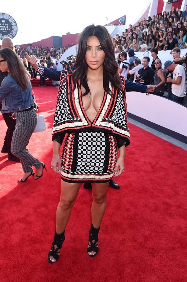 In Balmain at the MTV VMAs, August 2014.