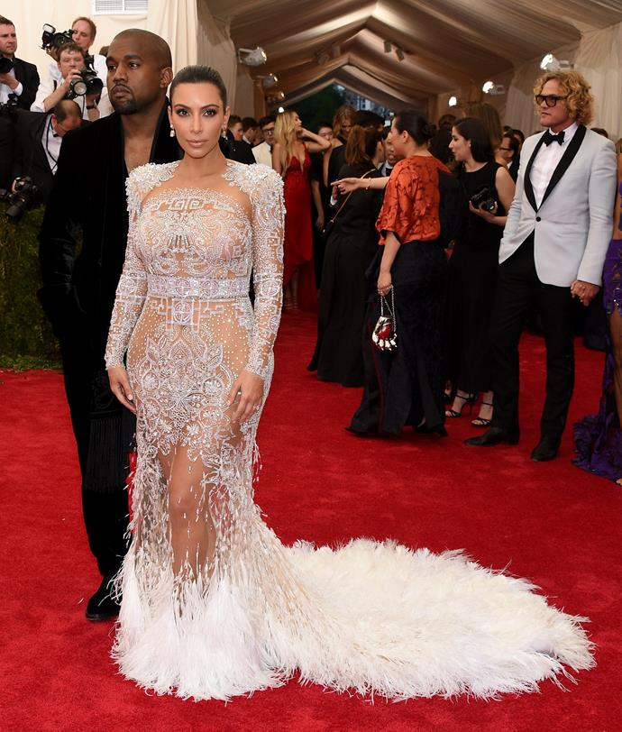 In Givenchy at the Met Gala, May 2015.
