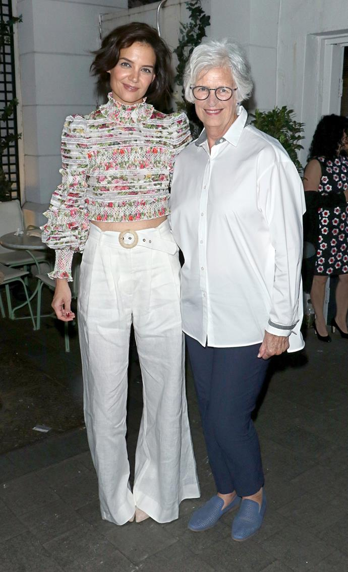 At a party in New York City with her mother Kathleen A. Stothers-Holmes on 20th May, 2018