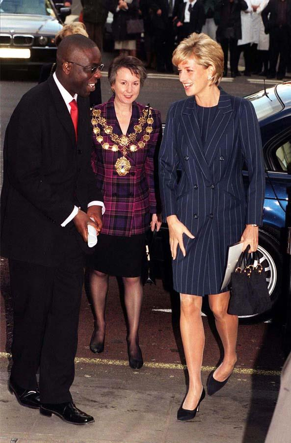 At a charity event in London, 1996.