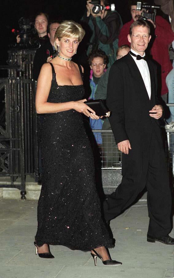 In Jacques Azagury at a gala at the Tate Modern, 1997.