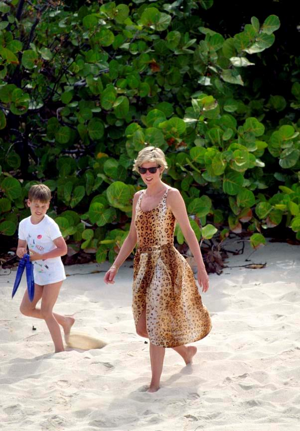 On holiday on Necker Island, 1990.