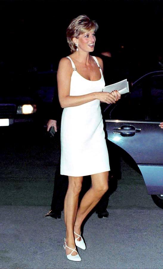 In Versace in Italy, 1995.