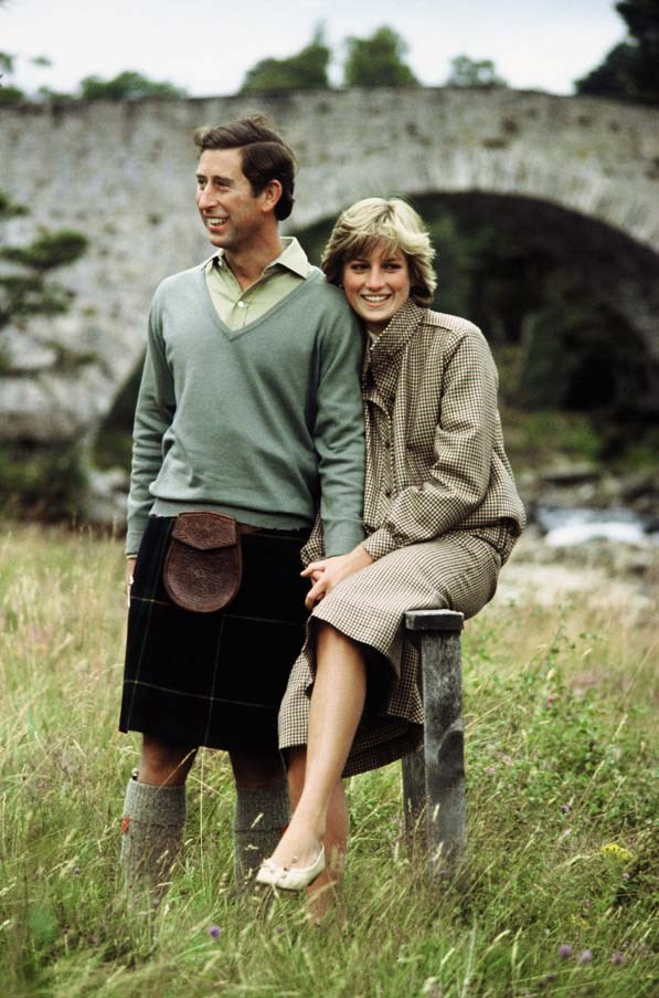 On her honeymoon with Prince Charles, 1981.