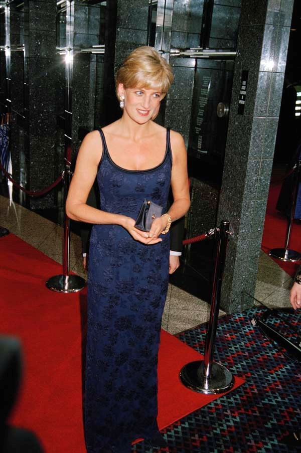 At the premiere of *In Love and War*, 1997.