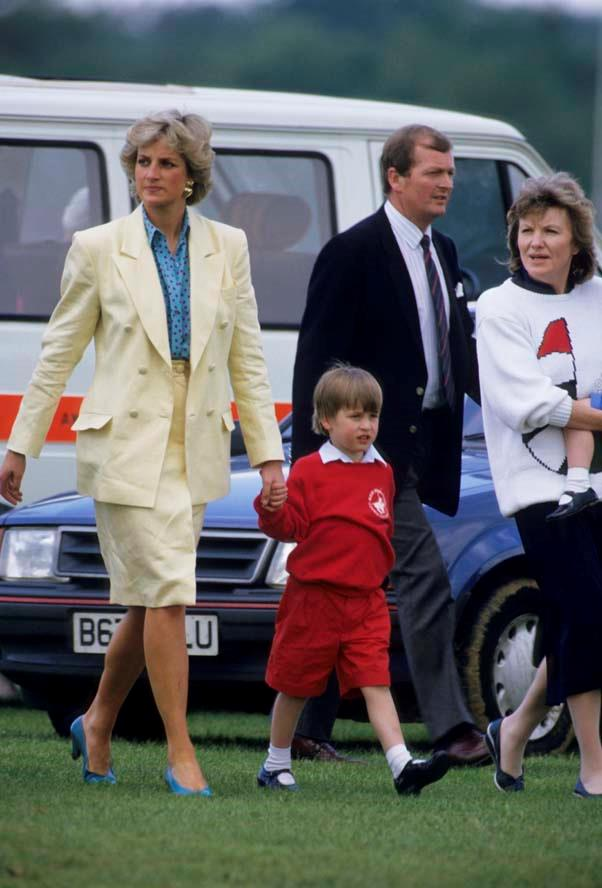 With Prince William at the polo, 1987.