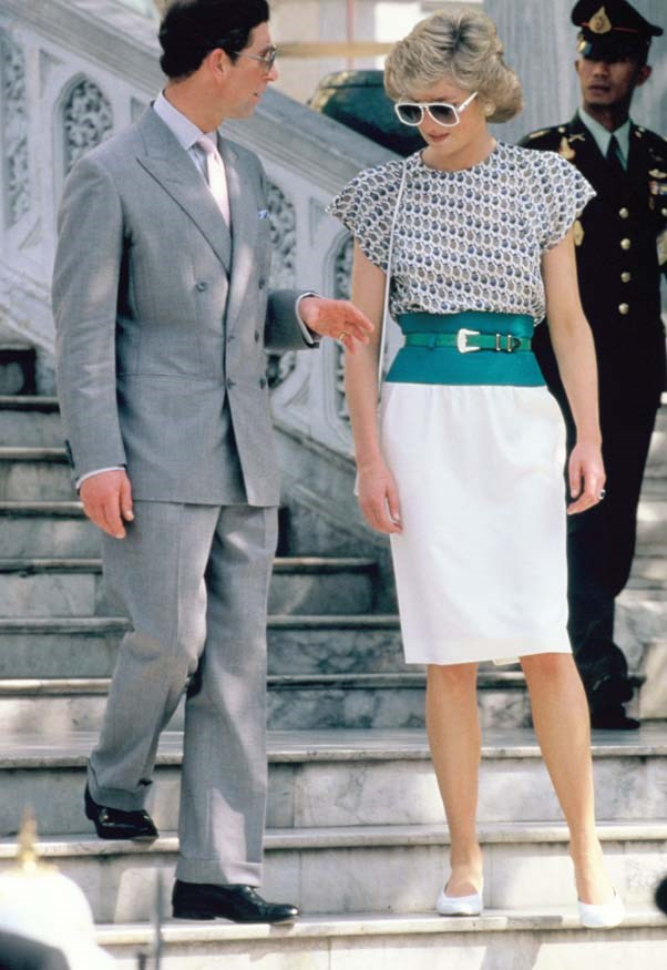 In Thailand with Prince Charles, 1988.
