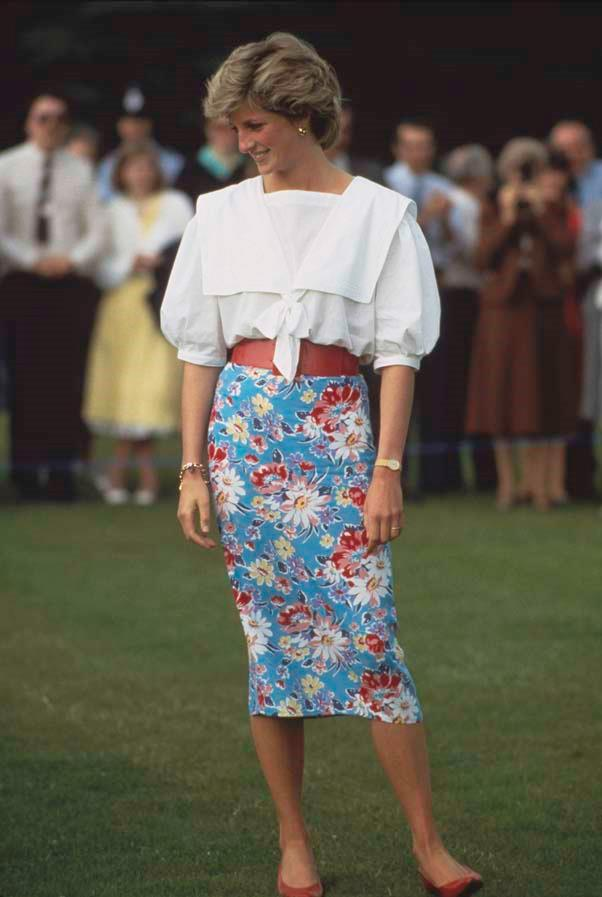 At the polo, 1985.