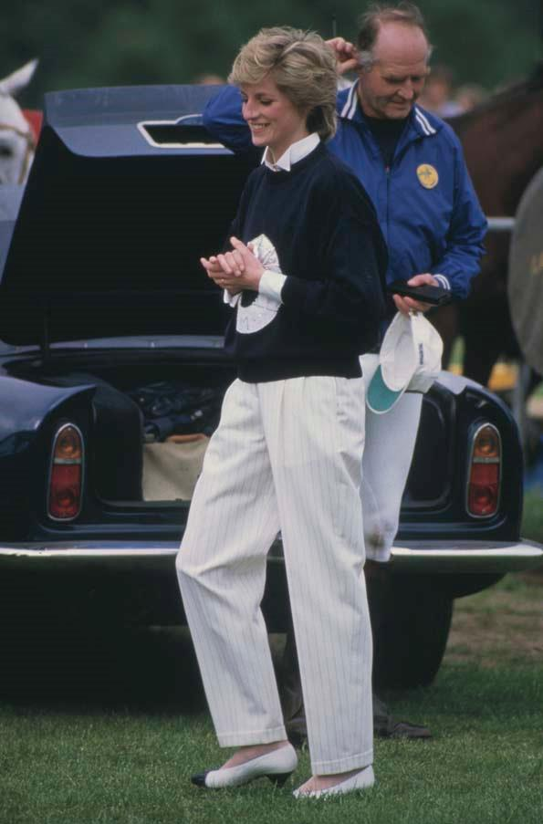 At the polo, 1986.