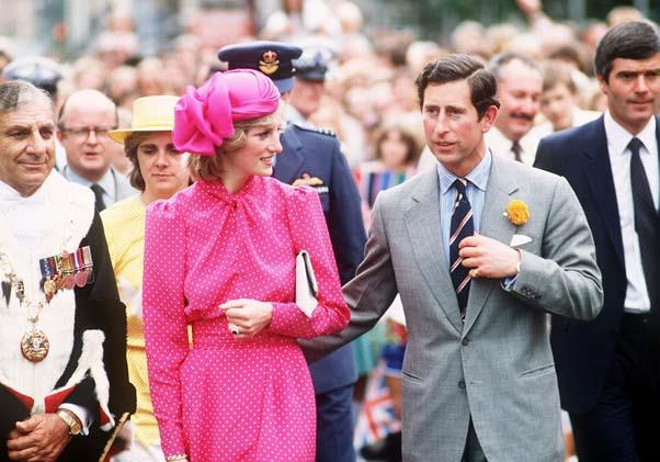 With Prince Charles in Perth, 1983.