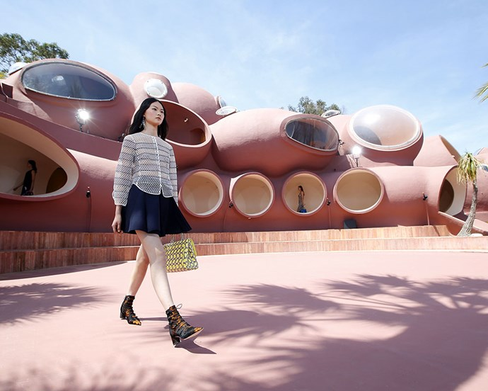 "The Bubble House has also played host to several fashion shows over the years. Pictured is [Dior's Cruise 2016](https://www.harpersbazaar.com.au/fashion/dior-cruise-2016-celebrity-front-row-11463|target=""_blank"") show, where creative director Raf Simons made a sartorial spectacle out of the already spectacular home. <br><br> If you're a true Edina and Patsy fan, you might also recognise it from 2016's [*Absolutely Fabulous: The Movie*](https://www.harpersbazaar.com.au/culture/absolutely-fabulous-movie-exclusive-bts-6200