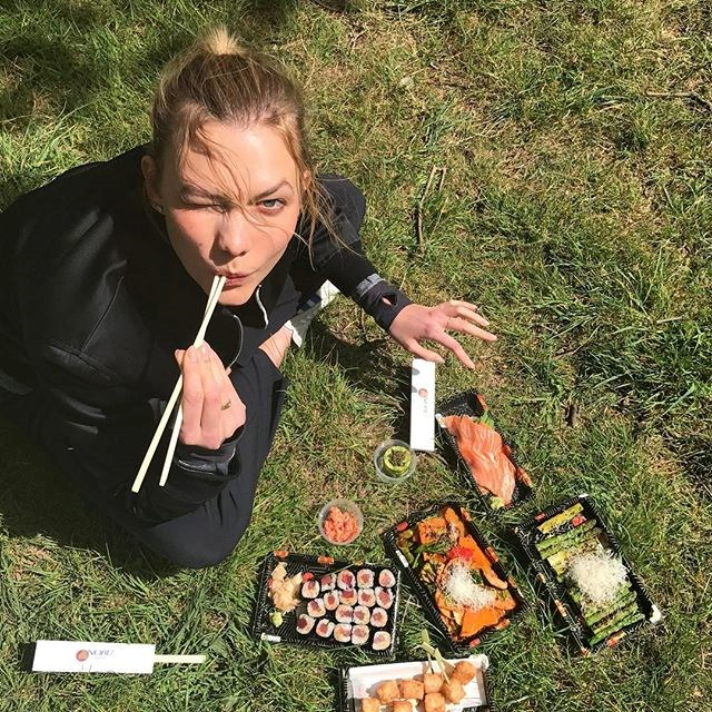 """Alongside this exercise regimen, the former ballerina steps up her healthy eating in the lead-up to the Victoria's Secret show. """"In the run-up to the show, I've tried to ensure I'm getting enough protein,"""" she says, stressing the importance of this when working out. <br><br>""""You need to keep up your energy levels and get plenty of sleep. You're in your underwear going down the catwalk, so I think everyone here has been working out more than usual."""""""