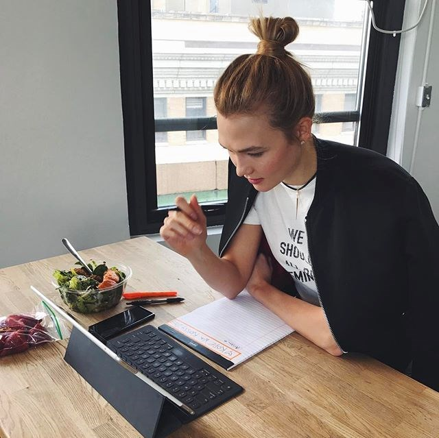 """Her diet is packed with whole foods and she substitutes cow's milk for almond milk. For breakfast, her favourite meal of the day, she whips up a protein shake, egg white omelette or porridge, or she simply munches on fresh fruit with yogurt. <br><br>""""I'm a vegetarian, so I try to take care of my body and get enough protein even though I don't eat meat."""""""